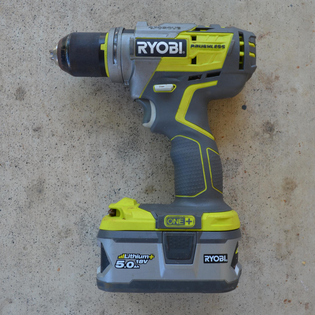 photo of a cordless drill to make a DIY insect farm